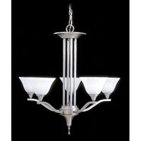 Framburg 9305BS/PN Solstice 5 Light 28 inch Brushed Stainless/Polished Nickel Chandelier Ceiling Light photo thumbnail