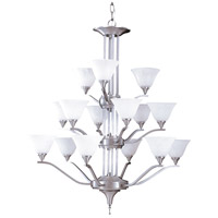 HA Framburg Solstice 15 Light Foyer Chandelier in Brushed Stainless/Polished Nickel 9315BS/PN