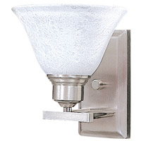 Solstice 1 Light 8 inch Brushed Stainless/Polished Nickel Bath Light Wall Light