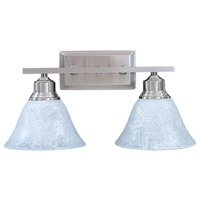 Bellevue 2 Light 16 inch Brushed Stainless with Polished Nickel Sconce Wall Light
