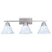 Framburg 9323BS/PN Bellevue 3 Light 25 inch Brushed Stainless with Polished Nickel Sconce Wall Light