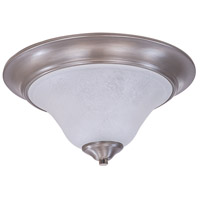 Framburg 9326BS/PN Bellevue 2 Light 14 inch Brushed Stainless with Polished Nickel Flush Mount Ceiling Light in Polished Nickel and White Marble