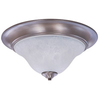 Bellevue 2 Light 18 inch Brushed Stainless with Polished Nickel Flush Mount Ceiling Light in Polished Nickel and White Marble