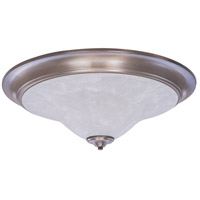 Framburg 9328BS/PN Bellevue 3 Light 25 inch Brushed Stainless with Polished Nickel Flush Mount Ceiling Light in Polished Nickel and White Marble