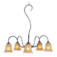 HA Framburg Cottage 5 Light Dining Chandeliers in Mahogany Bronze 9355MB