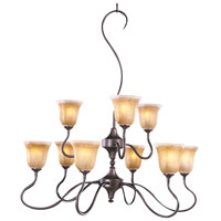 HA Framburg Cottage 9 Light Dining Chandeliers in Mahogany Bronze 9359MB