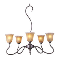 HA Framburg Cottage 5 Light Dining Chandeliers in Mahogany Bronze 9365MB