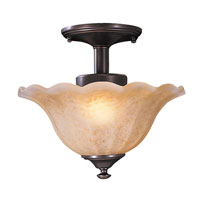 HA Framburg Cottage 2 Light Flush Mounts and Semi-Flush Mounts in Mahogany Bronze 9366MB