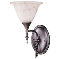 HA Framburg Black Forest 1 Light Bath Light in Mahogany Bronze/Amber Marble 9421MB/AM