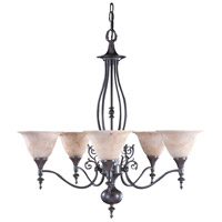 Black Forest 5 Light 28 inch Mahogany Bronze Dining Chandelier Ceiling Light in Amber Marble