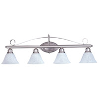 HA Framburg Metalcraft 4 Light Bath Light in Satin Pewter/White Marble 9474SP/WH