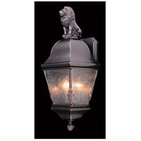 Framburg 9605SBR Coeur De Lion 3 Light 21 inch Siena Bronze Exterior Wall Lantern in Sienna Bronze