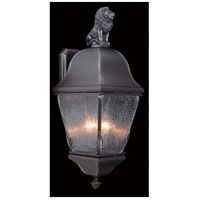 Framburg 9610IRON Coeur De Lion 3 Light 26 inch Iron Exterior Wall Lantern