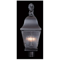 Coeur De Lion 3 Light 24 inch Iron Exterior Post Mount