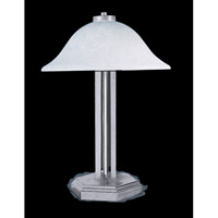 HA Framburg Solstice 2 Light Table Lamp in Brushed Stainless/Polished Nickel Accents 9620BS/PN photo thumbnail