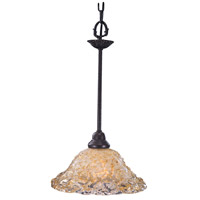 HA Framburg Liebestraum 1 Light Pendant in Mahogany Bronze 9720MB