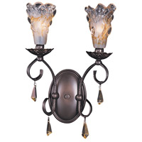 Liebestraum 2 Light 11 inch Mahogany Bronze Sconce Wall Light