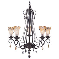 Framburg 9725MB Liebestraum 5 Light 26 inch Mahogany Bronze Dining Chandelier Ceiling Light