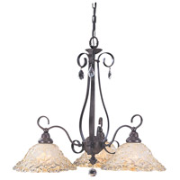 HA Framburg Liebestraum 3 Light Chandelier in Mahogany Bronze 9728MB