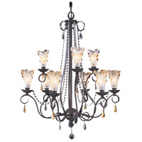 Framburg 9729MB Liebestraum 9 Light 28 inch Mahogany Bronze Dining Chandelier Ceiling Light