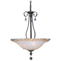 Liebestraum 3 Light 20 inch Mahogany Bronze Pendant Ceiling Light