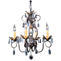 HA Framburg Liebestraum 4 Light Mini Chandelier in Mahogany Bronze 9904MB
