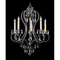 HA Framburg Liebestraum 5 Light Chandelier in Mahogany Bronze 9905MB