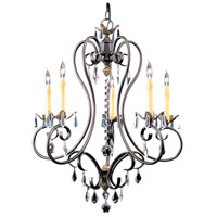 Framburg 9905MB Liebestraum 5 Light 27 inch Mahogany Bronze Dining Chandelier Ceiling Light