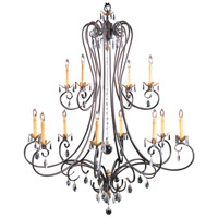 HA Framburg Liebestraum 12 Light Foyer Chandelier in Mahogany Bronze 9907MB