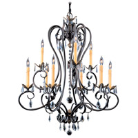 Framburg 9909MB Liebestraum 9 Light 29 inch Mahogany Bronze Dining Chandelier Ceiling Light