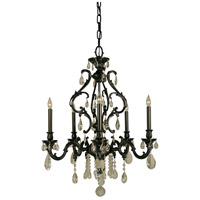 HA Framburg Czarina 5 Light Chandelier in Bronzed Gold Leaf 9955BGL