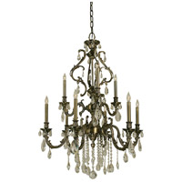 Czarina 9 Light 30 inch Antique Brass Dining Chandelier Ceiling Light
