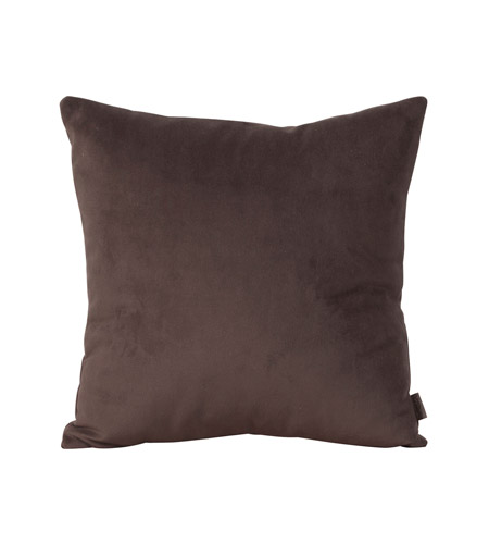 Howard Elliott Collection 1-220 Bella 16 X 6 inch Deep Chocolate Brown Pillow, Square photo