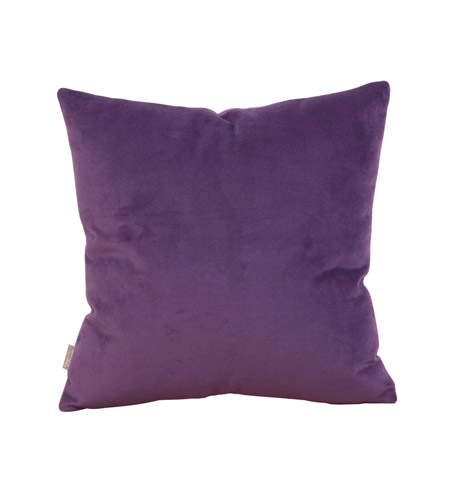 Howard Elliott Collection 1-223F Bella 16 X 6 inch Bold Purple Pillow, Square photo