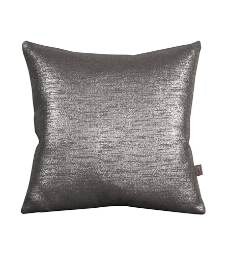 Howard Elliott Collection 1-236F Glam 16 X 6 inch Metallic Silver Pillow, Square photo