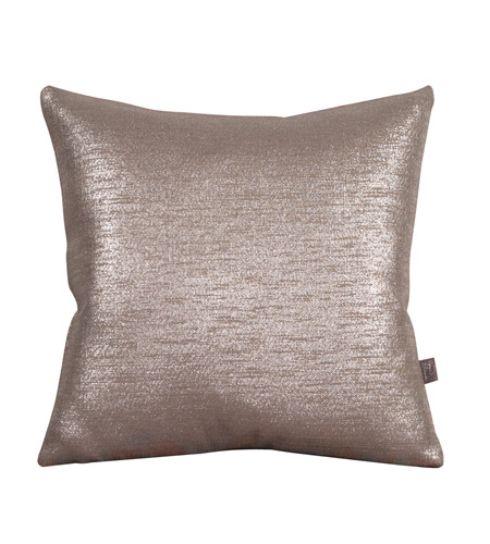 Howard Elliott Collection 1-237F Glam 16 X 6 inch Metallic Silver Pillow, Square photo