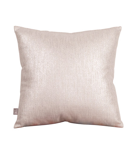 Howard Elliott Collection 1-239F Glam 16 X 6 inch Metallic Silver Pillow, Square photo
