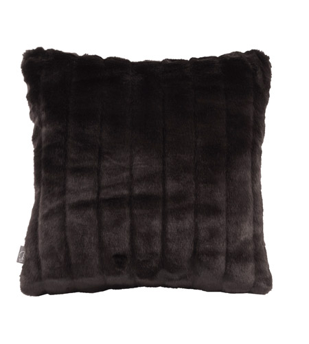 Howard Elliott Collection 1-286 Mink 16 X 6 inch Black Pillow, Square photo