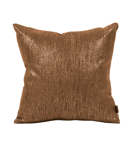 Howard Elliott Collection 1-293F Glam 16 X 6 inch Dark Chocolate Brown Pillow, Square photo