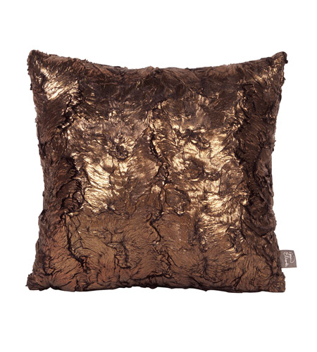 Howard Elliott Collection 1-295 Gold Cougar 16 X 6 inch Gold Metallic Pillow, Square photo