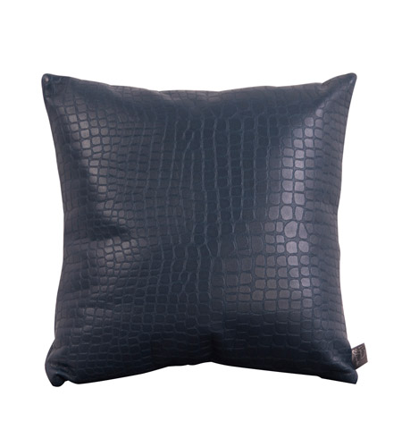 Howard Elliott Collection 1-469F Gator 16 X 16 inch Indigo Blue Pillow, Square photo