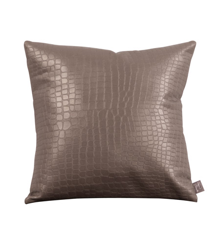 Howard Elliott Collection 1-470 Gator 16 X 6 inch Pewter Pillow, Square photo