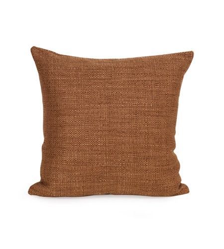 Howard Elliott Collection 1-886F Coco 16 X 6 inch Terra Cotta Pillow, Square photo
