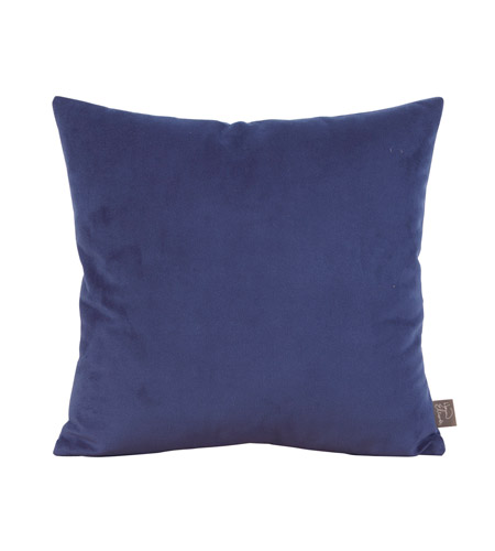 Howard Elliott Collection 1-972F Bella 16 X 6 inch Blue Pillow, Square photo