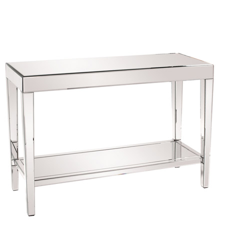 Howard Elliott Collection 11096 Orion 44 X 44 inch Mirrored Console Table Home Decor, With Shelf photo
