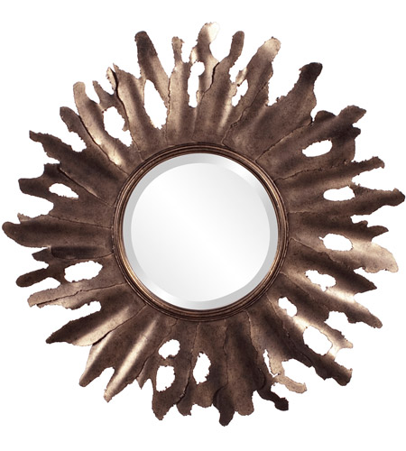Howard Elliott Collection 11169 Compass 47 X 32 inch Aged Gold Wall Mirror, Round photo
