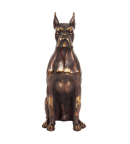 Howard Elliott Collection 12217 Guard Dog Bronze Statue photo