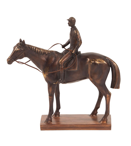 Howard Elliott Collection 12227 Jockey and Racehorse Bronze Statue photo