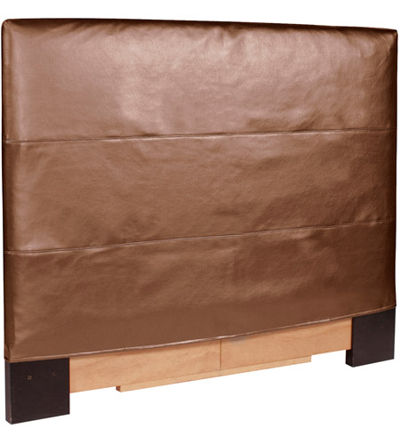 Howard Elliott Collection 123-772 FQ Luxe Bronze Headboard Slipcover photo