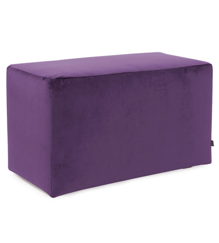 Howard Elliott Collection 130-223 Bella 20 inch Eggplant Purple Ottoman photo